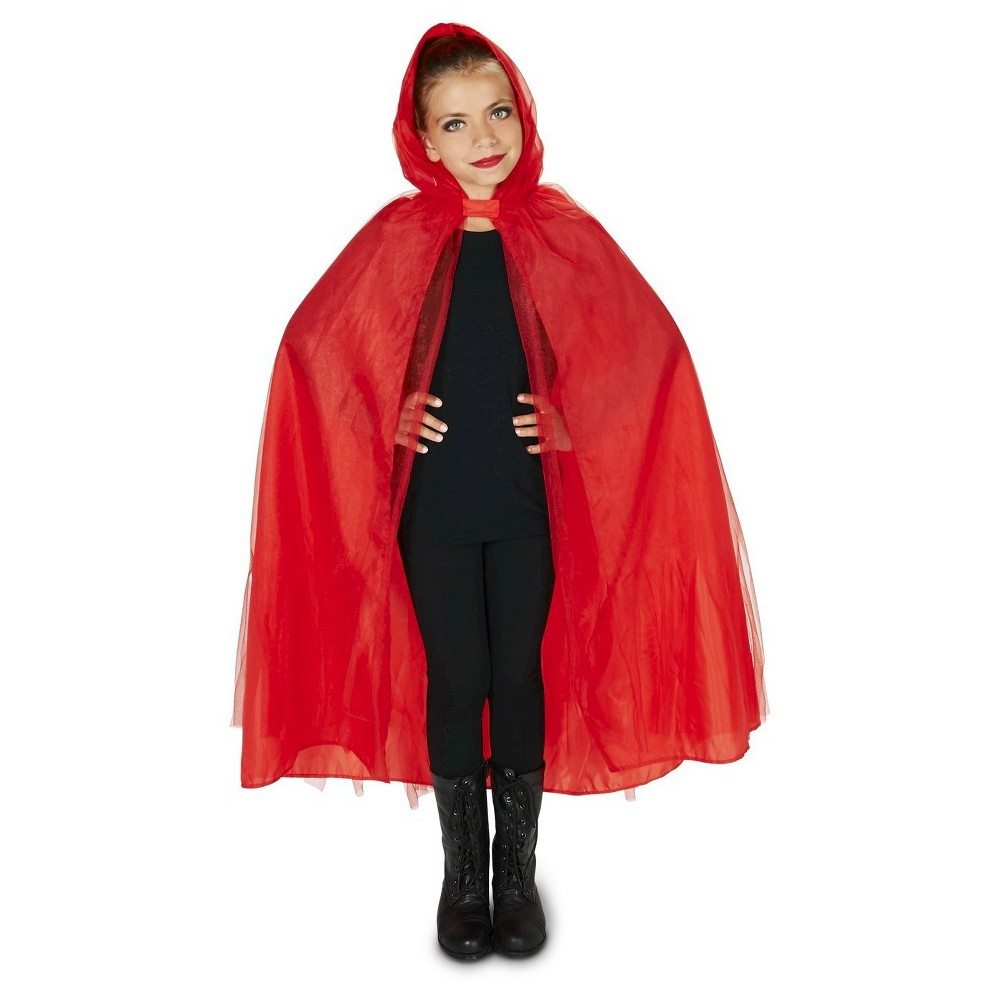 Mesh Childs Cape Red - One Size Fits Most, Kids Unisex