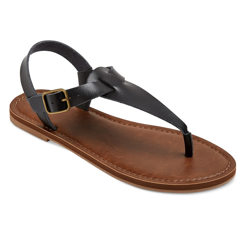 Womens Lady Thong Sandals - Mossimo Supply Co. Black 6.5
