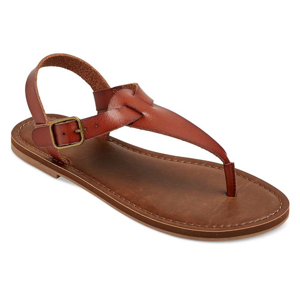 Women's Lady Thong Sandals - Mossimo Supply Co. Cognac (Red) 7
