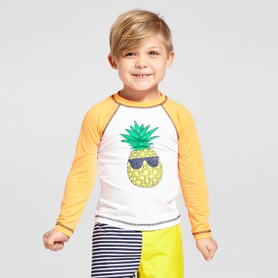 view Toddler Boys' Pineapple Rash Guard - Cat & Jack Orange on target.com. Opens in a new tab.