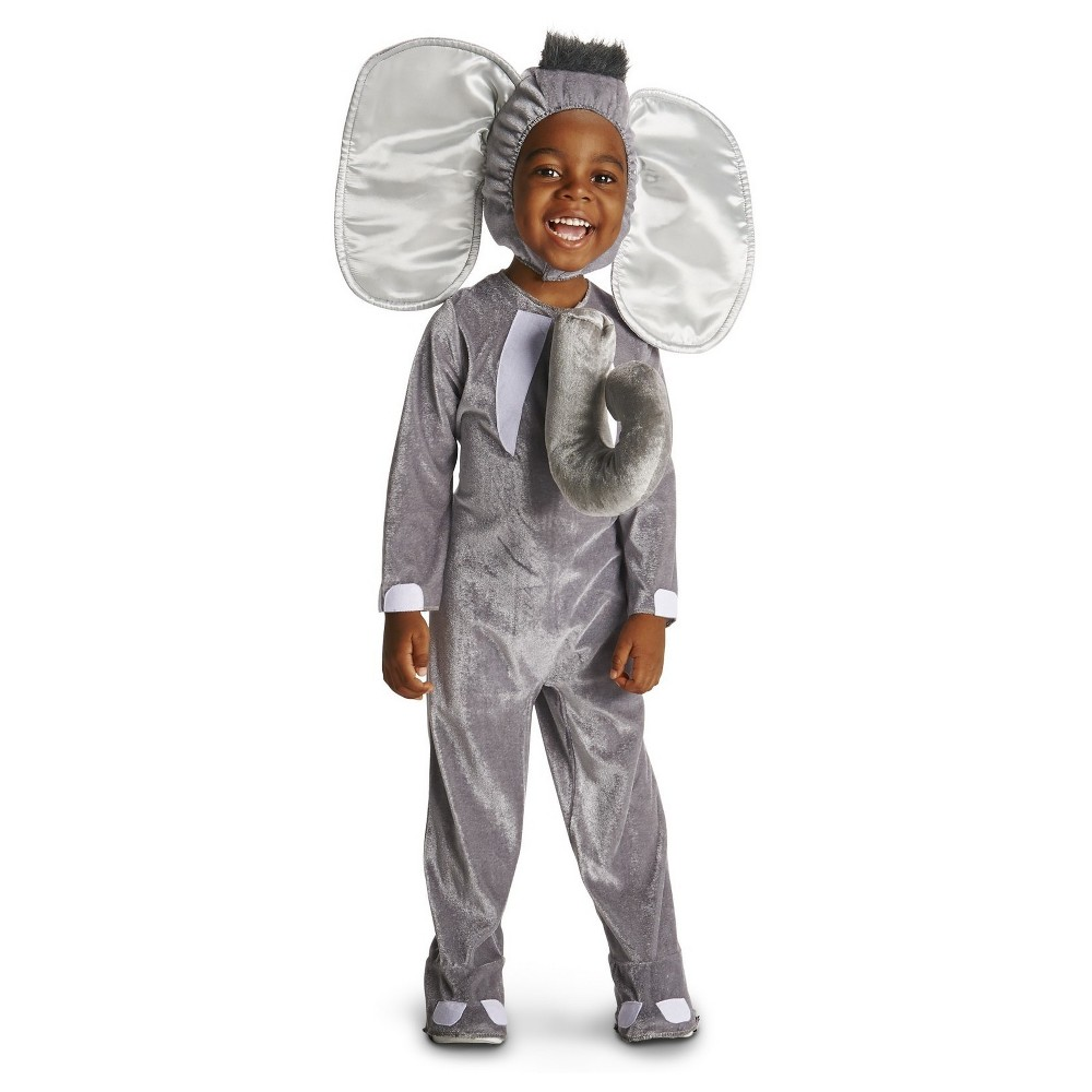 Royal Elephant Prince Baby Costume 12-18 Months Gray, Infant Unisex, Size: 12-18 M