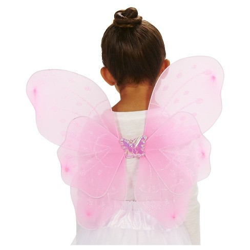 Fairy Child's Wings Pink Costume - One Size Fits Most - image 1 of 5