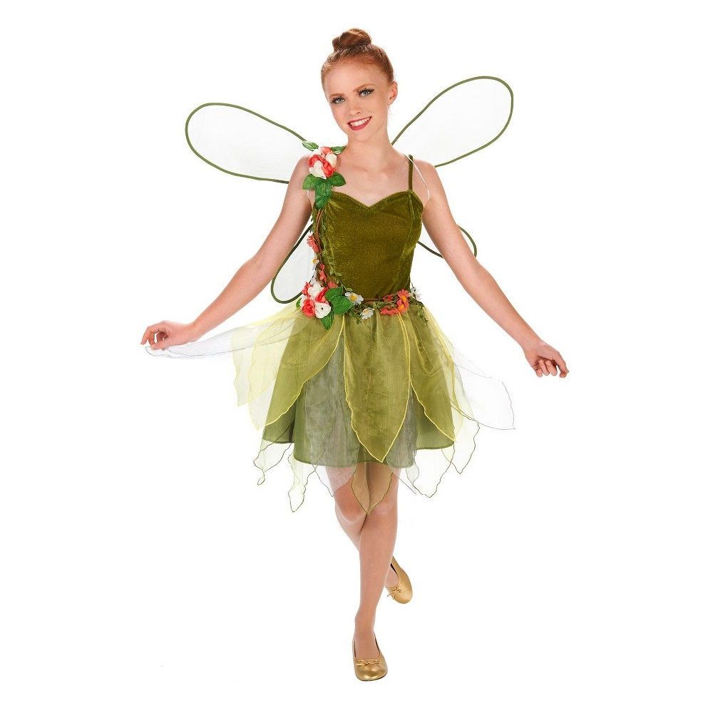 Flower Power Fairy Tween Costume - Small (4-6), Girls, Size: S(4-6), Green