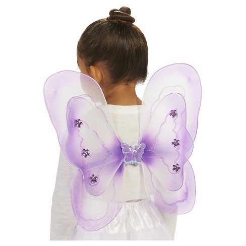 Fairy Child's Wings Purple Costume - One Size Fits Most - image 1 of 2