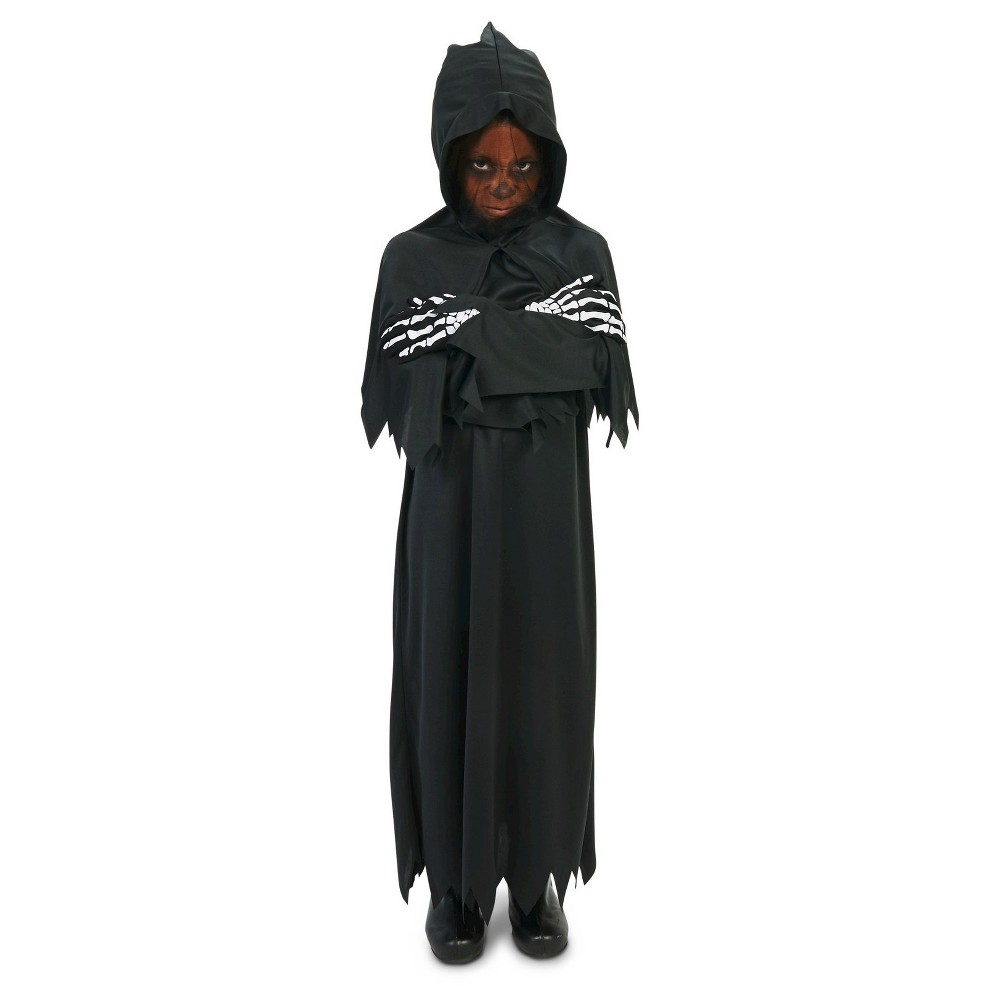 Hooded Dark Grim Reaper Childs Costume X-Large, Boys, Size: XL, Black