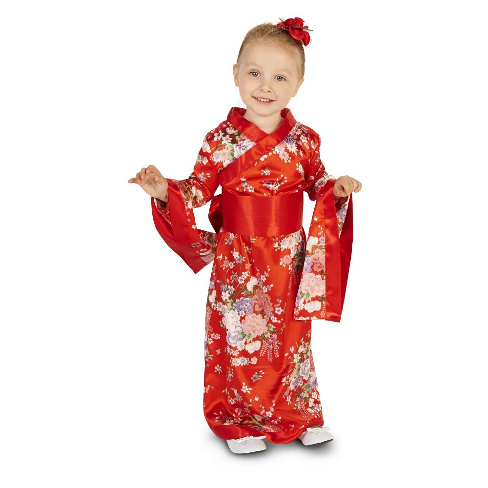 Japanese Kimono Toddler Costume 2-4T, Toddler Girls, Size: 2T-4T, Red
