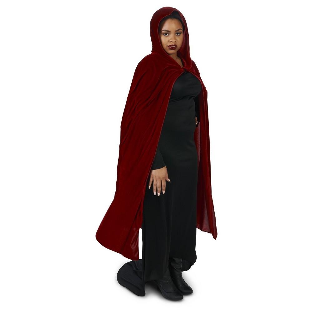 Plus Size Velvet WoAdult Plus Cape, Adult Unisex, Red