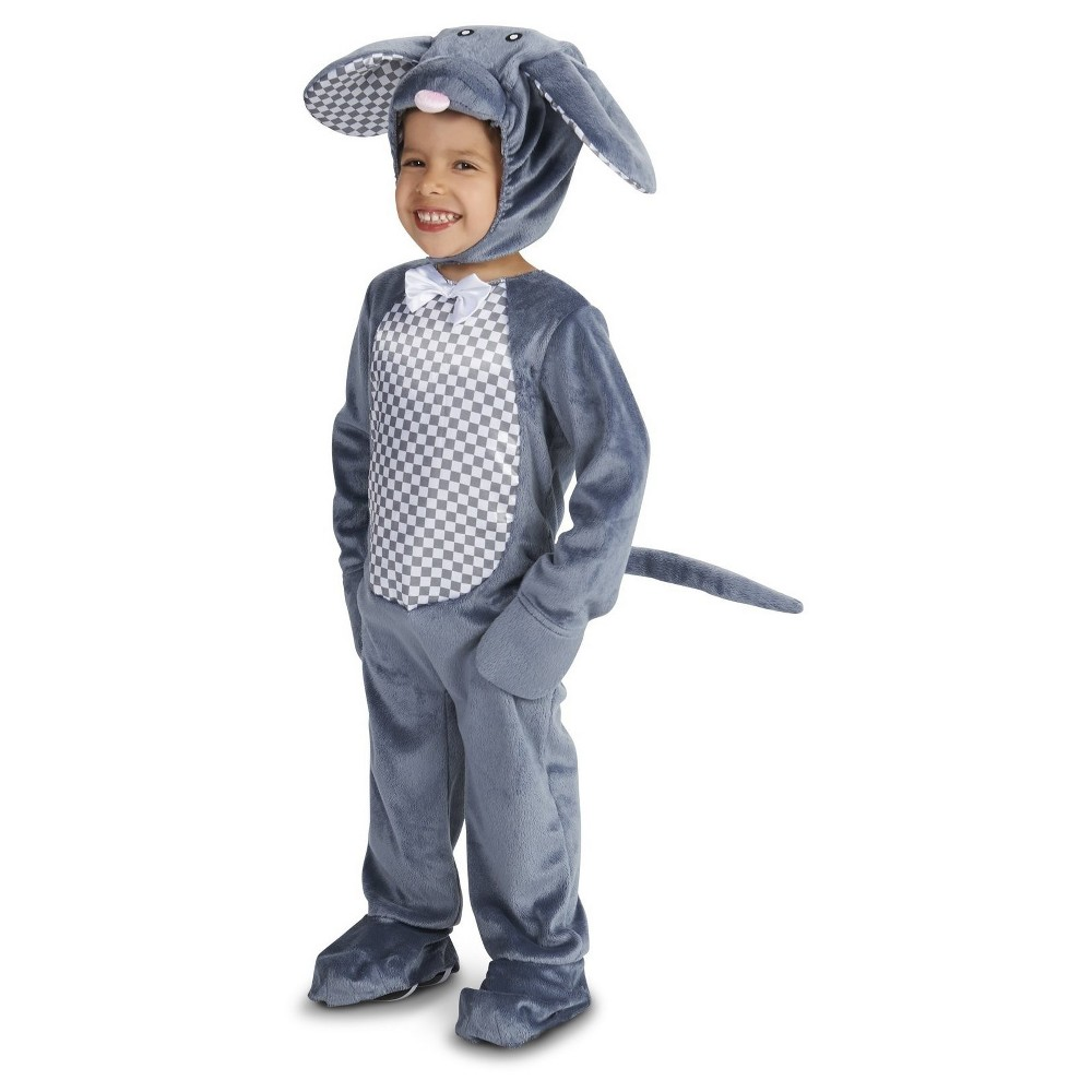 Misbehaving Mouse Baby Costume Gray 18-24 Months, Infant Unisex