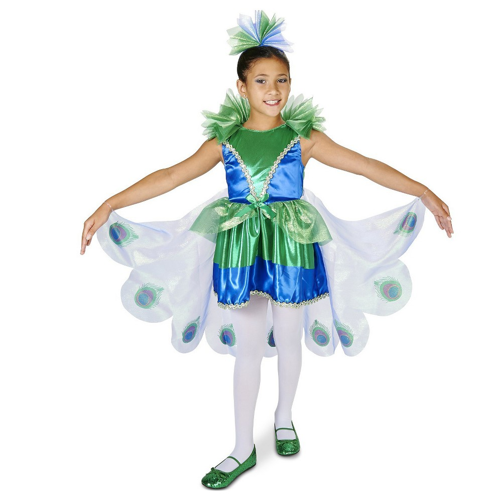 Pretty Little Peacock Childs Costume S(4-6), Girls, Multicolored