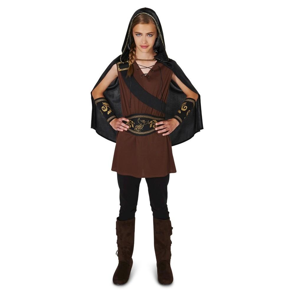 Girls The Lady Huntress Costume - Medium 8/10, Size: M(8-10), Red