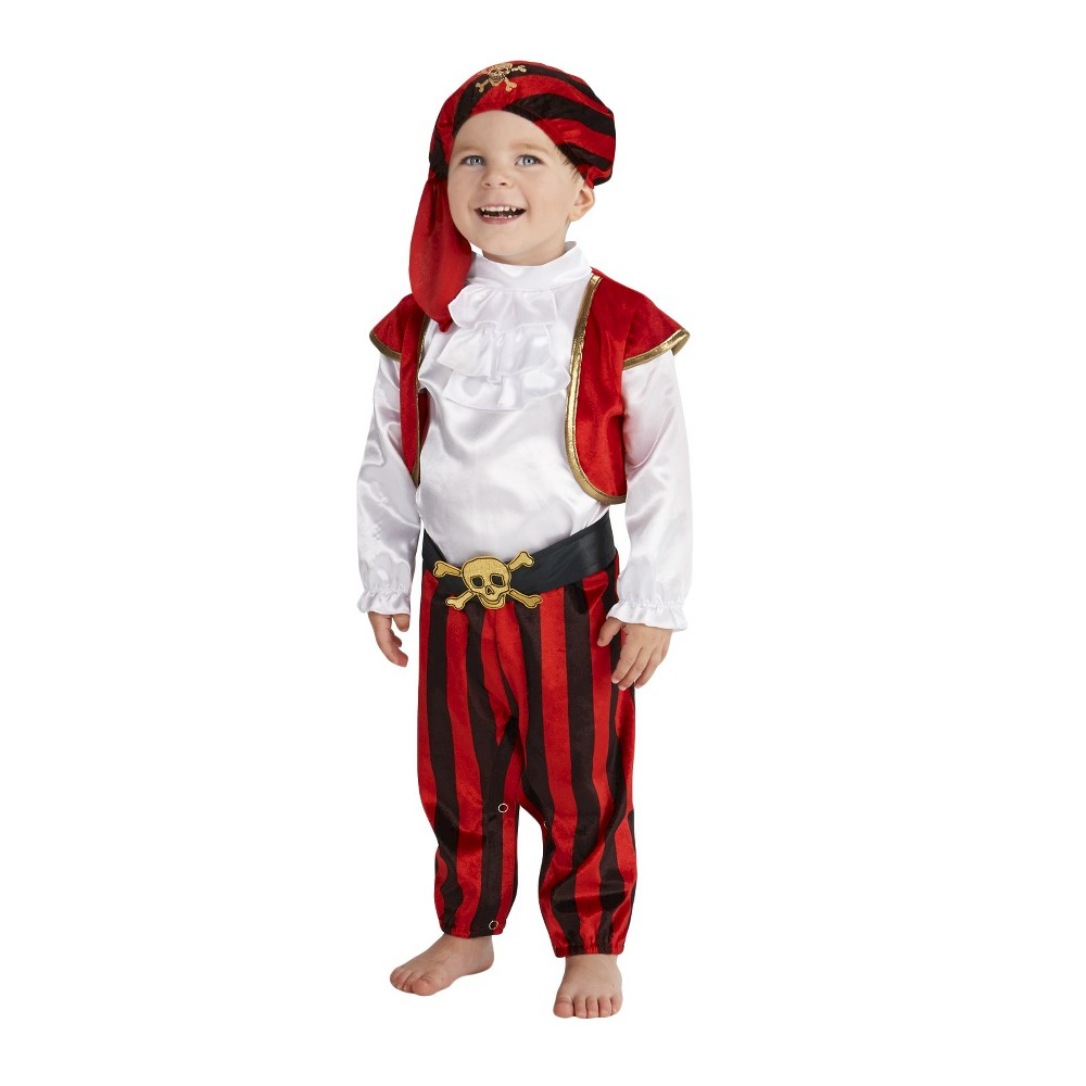 Pirate Commander Baby Costume 6-12 Months, Infant Boys, Size: 6-12 M, Multicolored