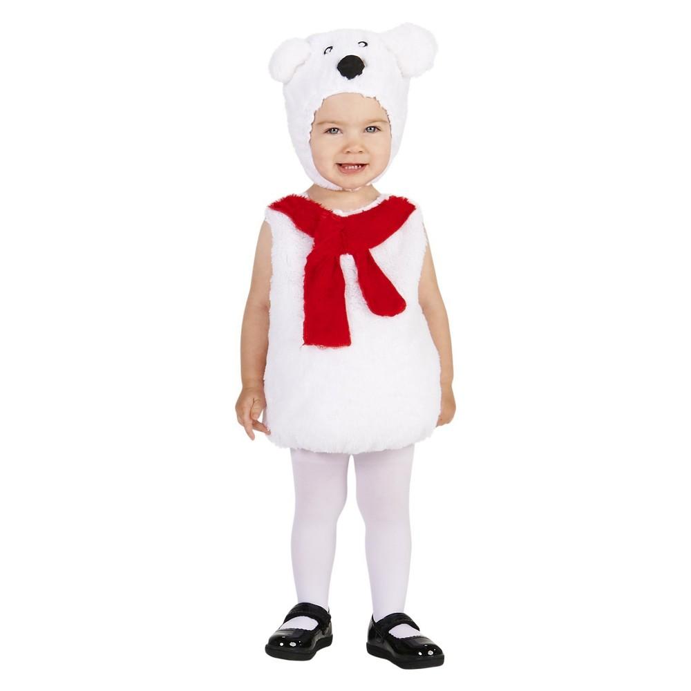 Polar Bear Childs Costume S, Kids Unisex, Size: S(4-6), White