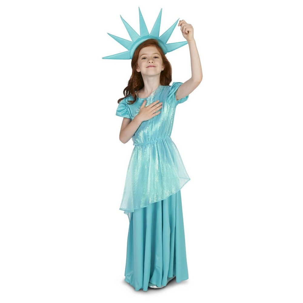 Statue of our Lady Liberty Childs Costume M(8-10), Blue