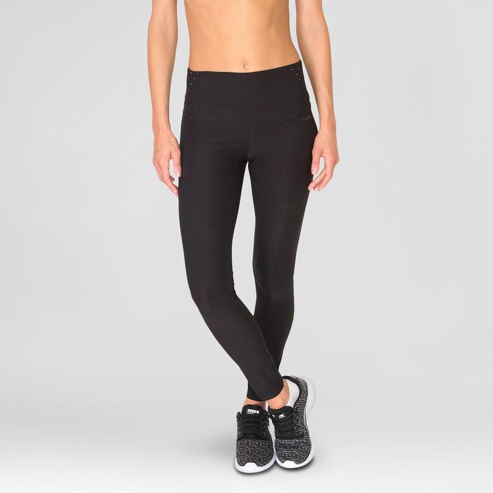 Women's Tummy Control Leggings Black L - Rbx
