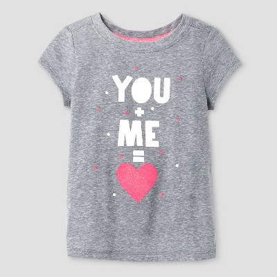 Baby Girls' T-Shirt Cat & Jack™ - Heather Grey 12 M