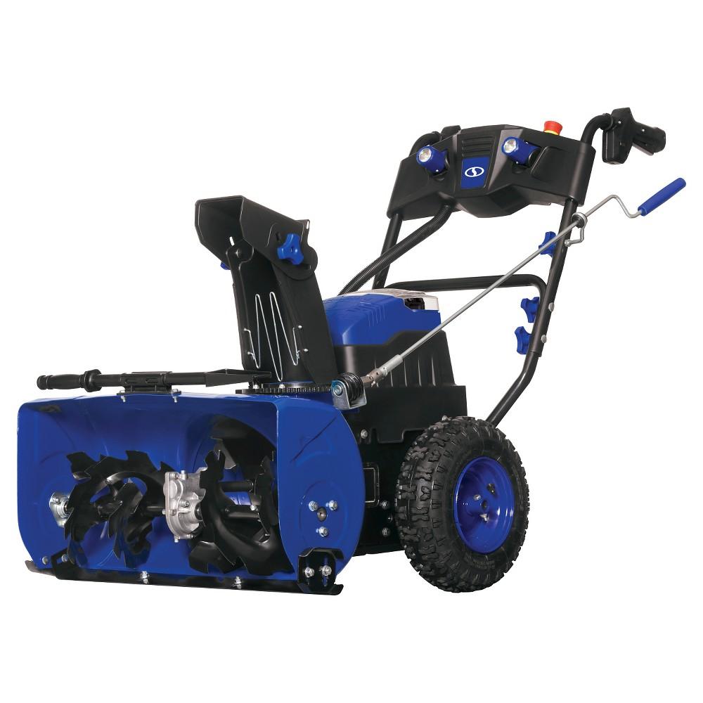 Snow Joe 80V 6.0Ah Cordless 2 Stage 3-Speed Snow Blower, Blue