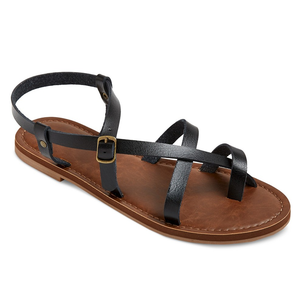 Womens Lavinia Thong Sandals - Mossimo Supply Co. Black 7.5