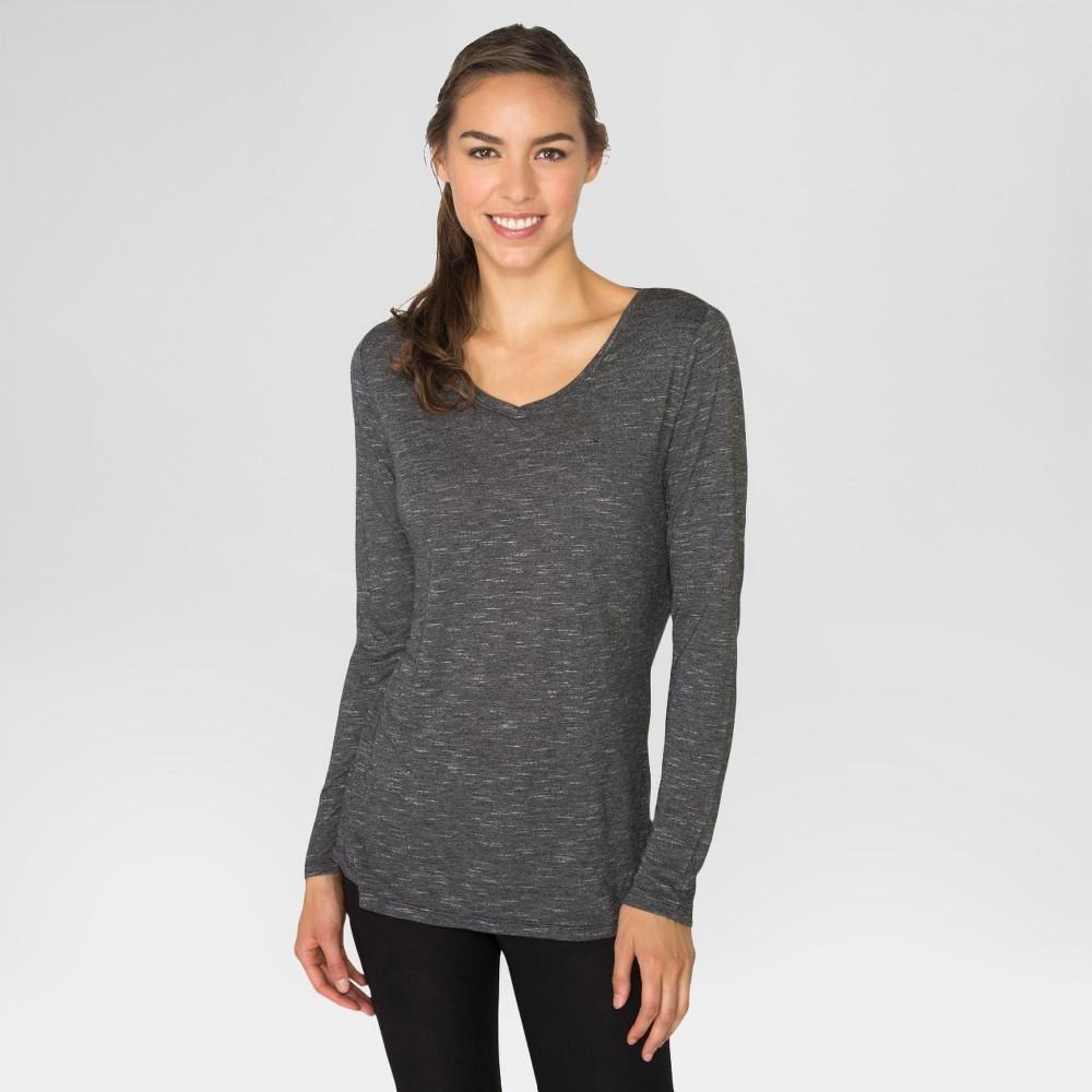 Women's Long Sleeved Striped T-Shirt Black XL - Rbx