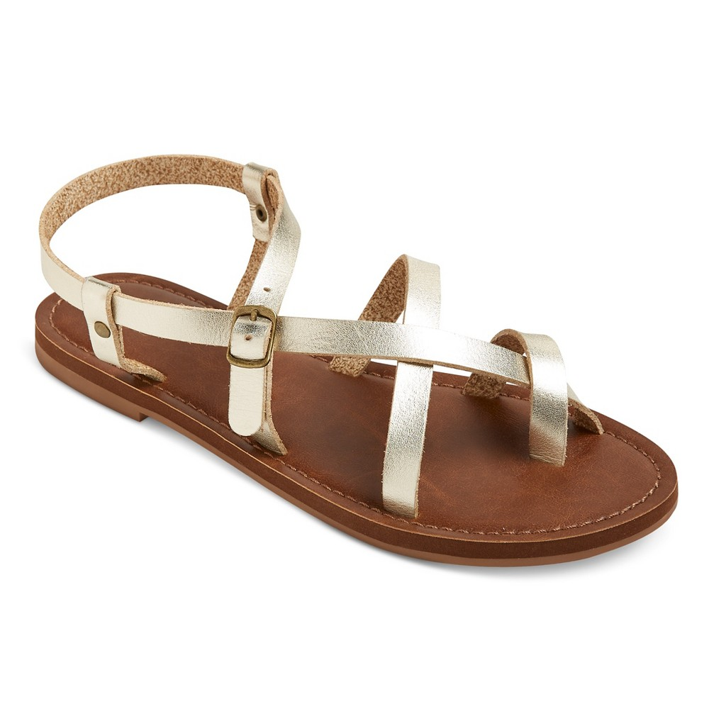 Womens Lavinia Thong Sandals - Mossimo Supply Co. Gold 6.5