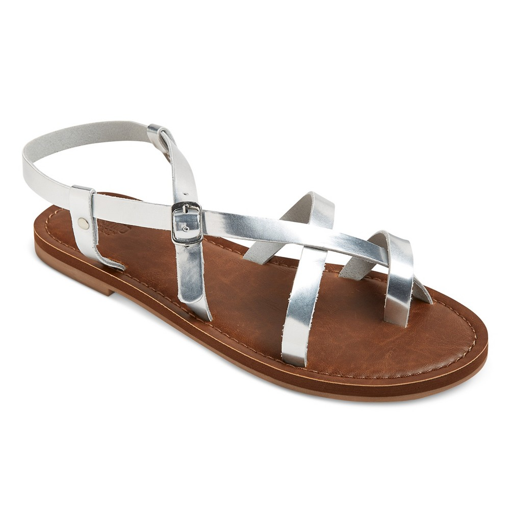 Womens Lavinia Thong Sandals - Mossimo Supply Co. Silver 6.5