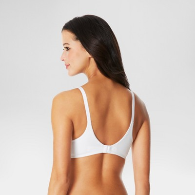 Simply Perfect by Warner's Women's Cotton Back Smoothing Wire-Free Bra RM0151T - White 38B