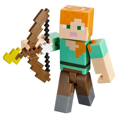 Minecraft Alex With Flaming Arrow Figure Series 3 Target