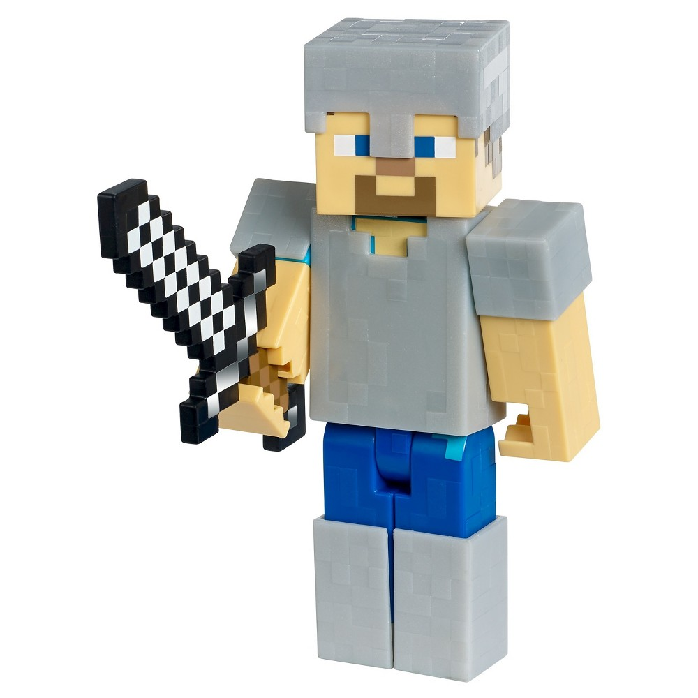 Minecraft Steve with Iron Armor Figure - Series 1