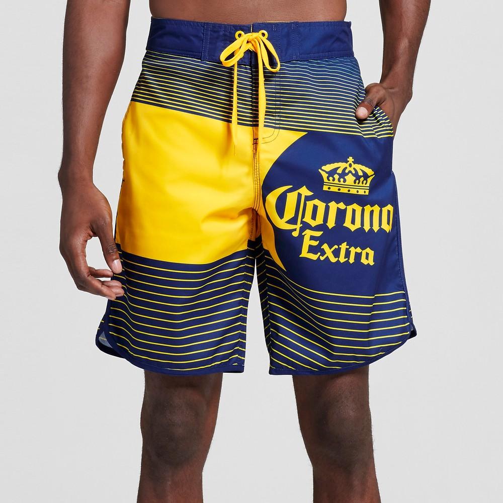 Men's Corona Label Board Shorts Navy (Blue) Xxl- Corona, Size: Xxl