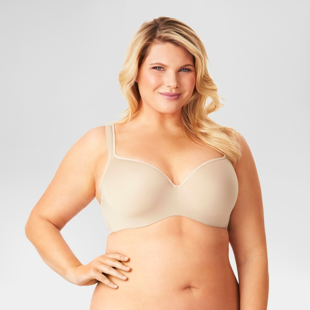 Kissed by Olga Womens Balconette Bra Toasted Almond 44D