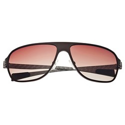 Breed Men's Atmosphere Polarized Sunglasses with Titanium Frame and Carbon Fiber Arms - Brown/Brown