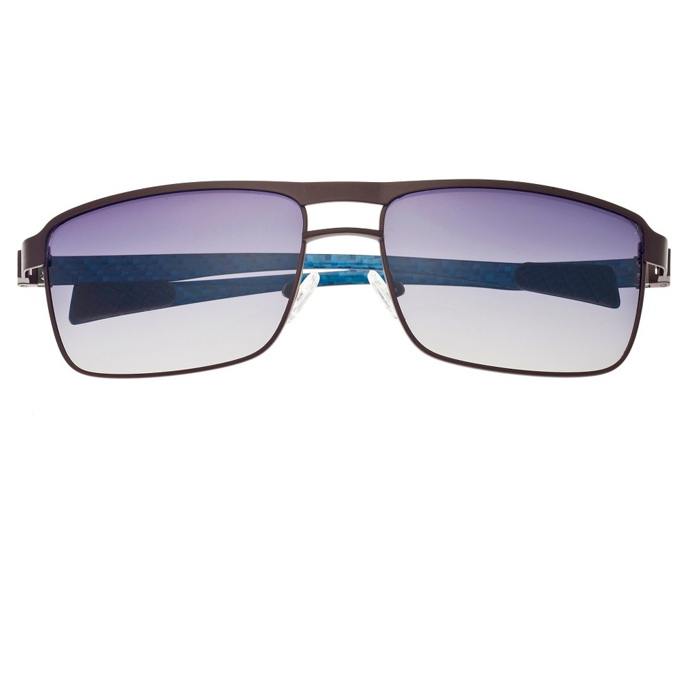 Breed Men's Taurus Polorized Sunglasses with Titanium Frame and Carbon Fiber Arms - Brown/Blue