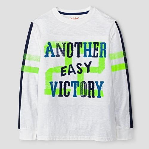 Boys' Victory Long Sleeve T-Shirt Cat & Jack - True White S, Boy's