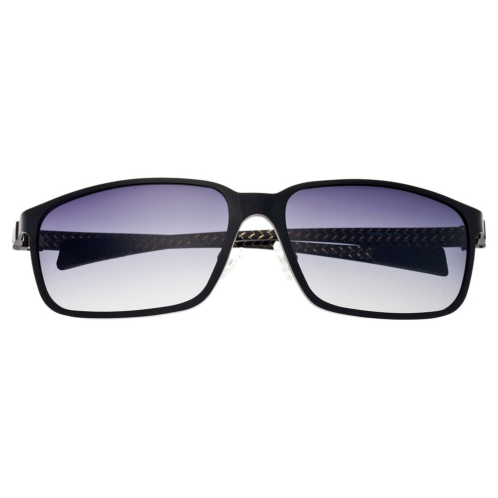 Breed Mens Neptune Polarized Sunglasses with Titanium Frame and Carbon Fiber Arms - Black/Black