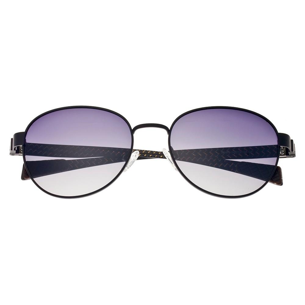 Breed Mens Volta Polarized Sunglasses with Titanium Frame and Carbon Fiber Arms - Black/Black
