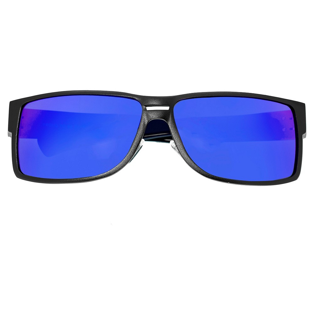 Breed Men's Stratus Polarized Sunglasses with Aluminum Frame and Arms - Brown/Blue