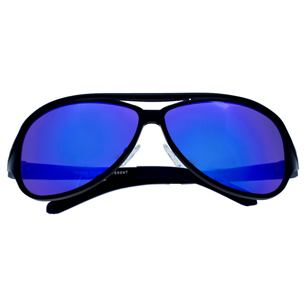 Breed Mens Langston Polarized Sunglasses with Aluminum Frame and Arms - Black/Blue