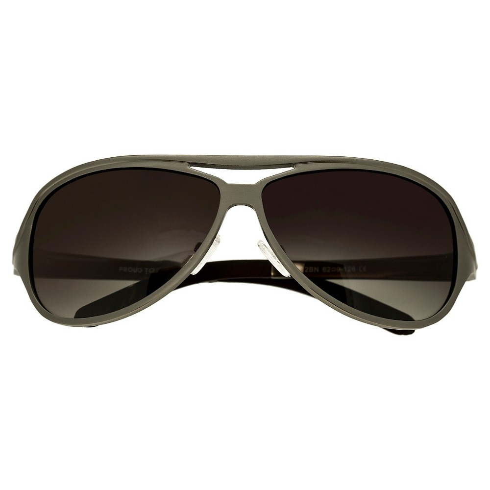 Breed Mens Langston Polarized Sunglasses with Aluminum Frame and Arms - Brown/Brown