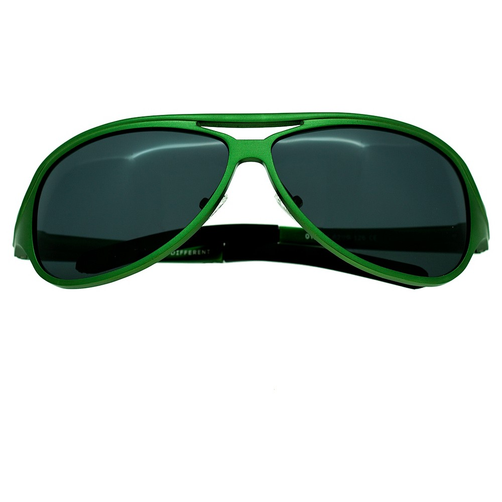 Breed Men's Langston Polarized Sunglasses with Aluminum Frame and Arms - Green/Black
