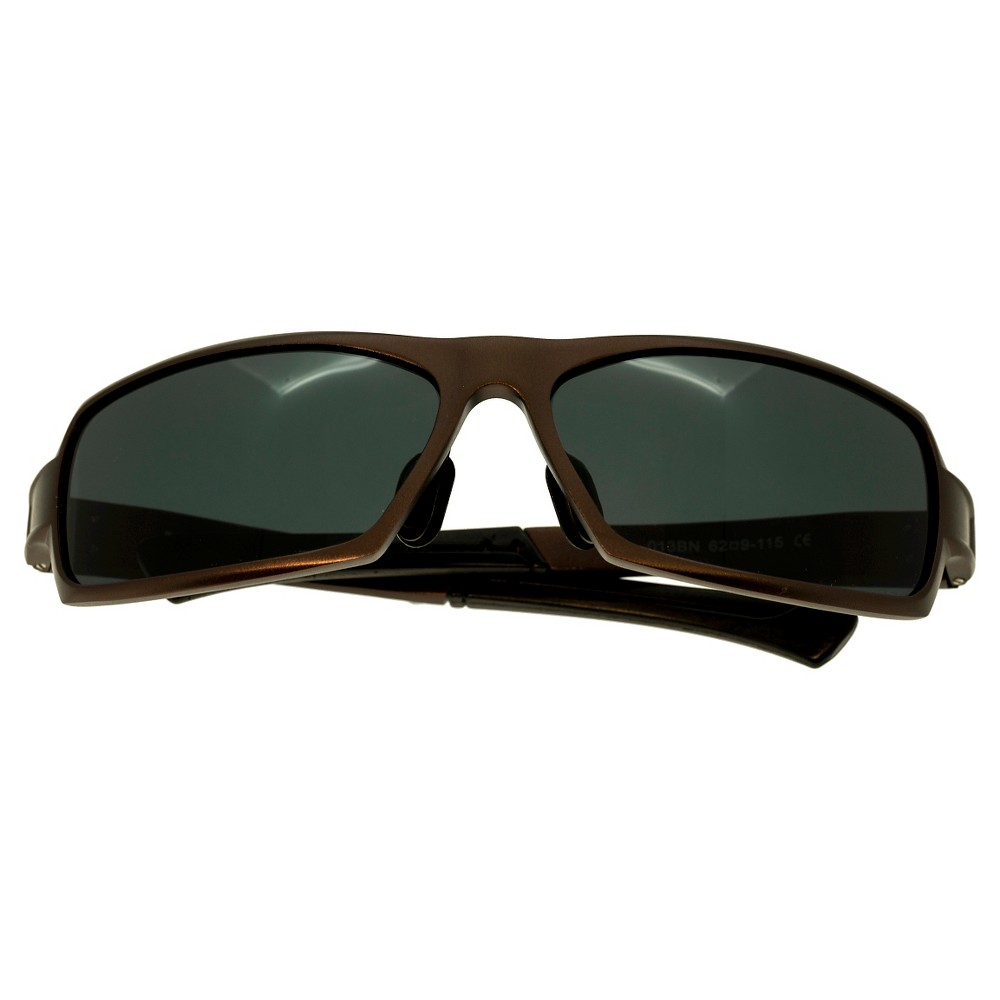 Breed Mens Cosmos Polarized Sunglasses with Aluminum Frame and Arms - Brown/Black