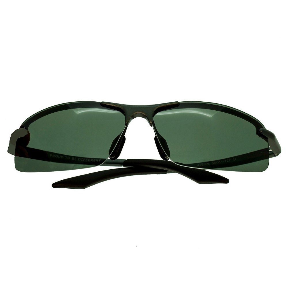 Breed Mens Lynx Polarized Sunglasses with Aluminum Frame and Arms - Gunmetal (Grey)/Black