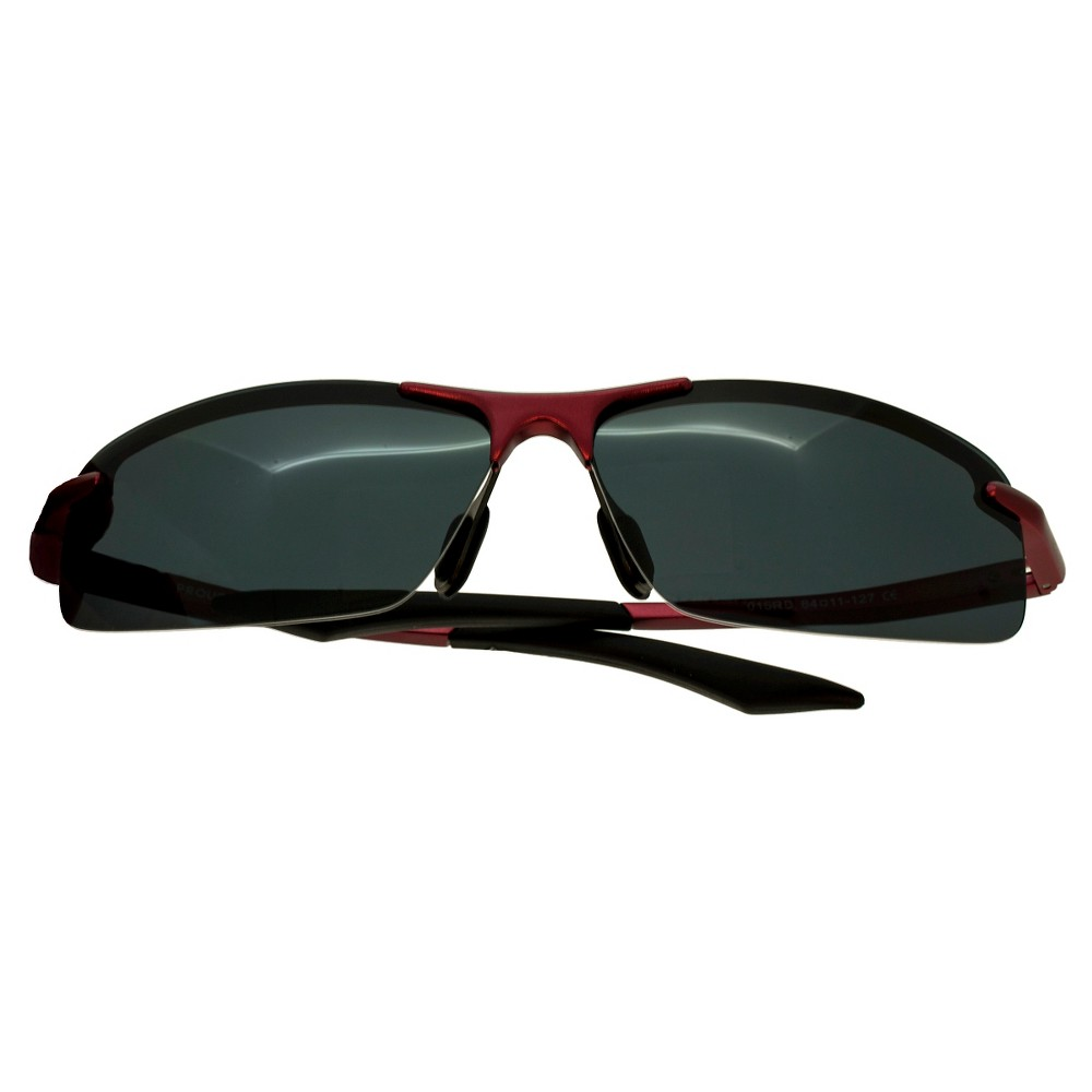 Breed Mens Lynx Polarized Sunglasses with Aluminum Frame and Arms - Red/Black, Blood Red