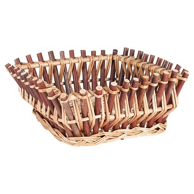 Household Essentials - Square Wood Stick Basket - Natural