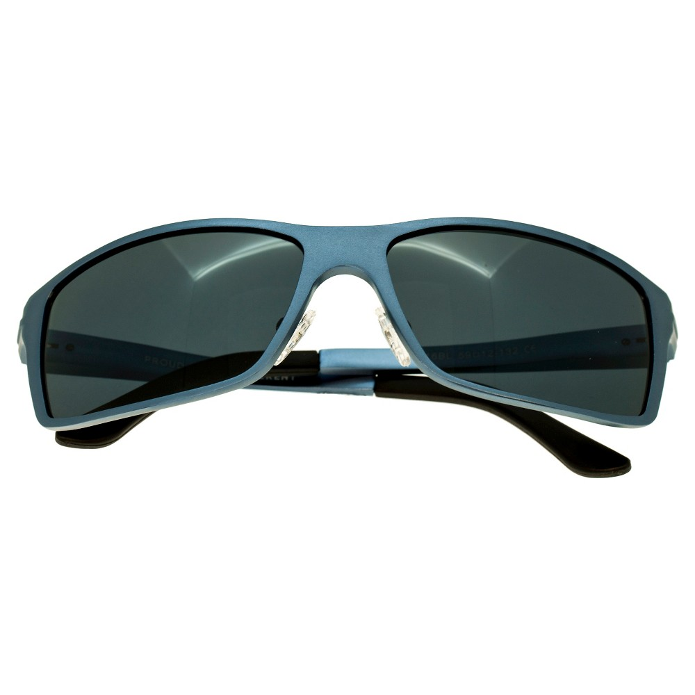 Breed Mens Kaskade Polarized Sunglasses with Aluminum Frame and Arms - Blue/Black, Steel Blue