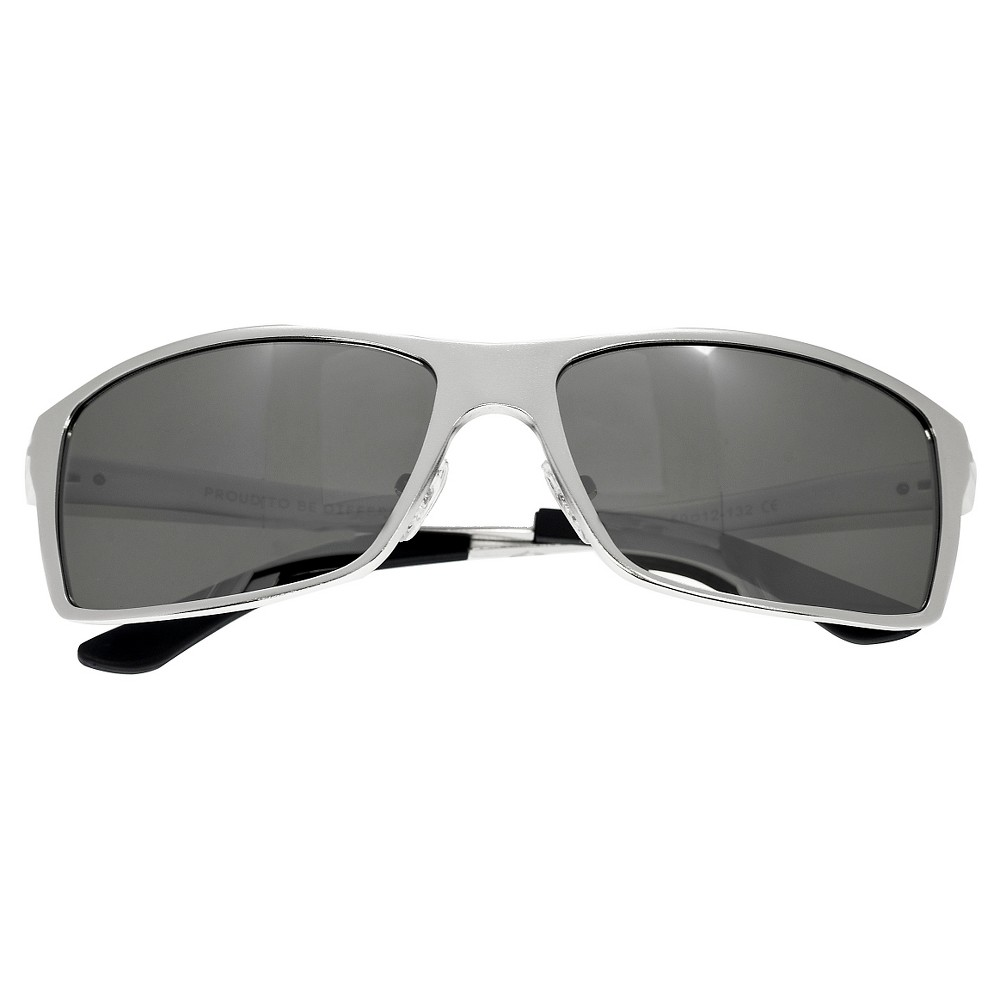 Breed Mens Kaskade Polarized Sunglasses with Aluminum Frame and Arms - Silver/Silver, Medium Silver
