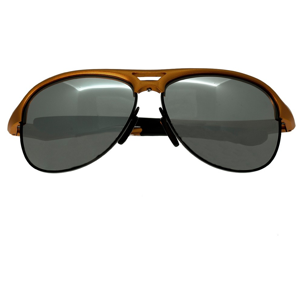 Breed Mens Jupiter Polorized Sunglasses with Aluminum Frame and Arms - Orange/Silver, Brown Or Copper