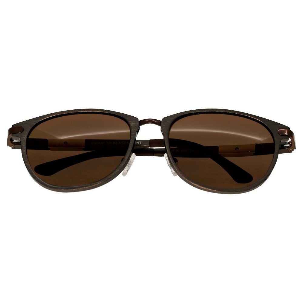 Breed Mens Orion Polorized Sunglasses with Aluminum Frame and Arms - Brown/Brown
