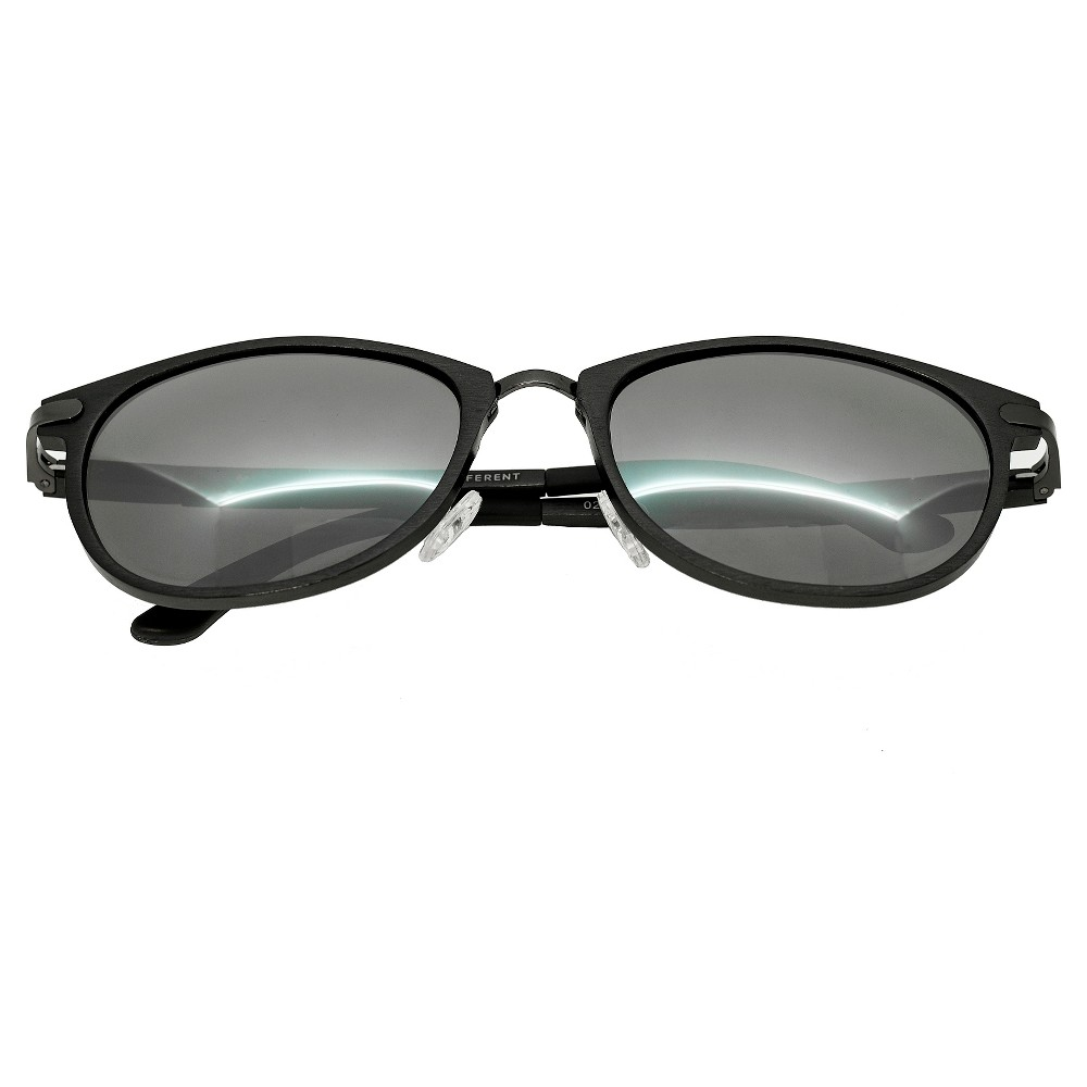 Breed Mens Orion Polorized Sunglasses with Aluminum Frame and Arms - Gunmetal (Grey)/Silver