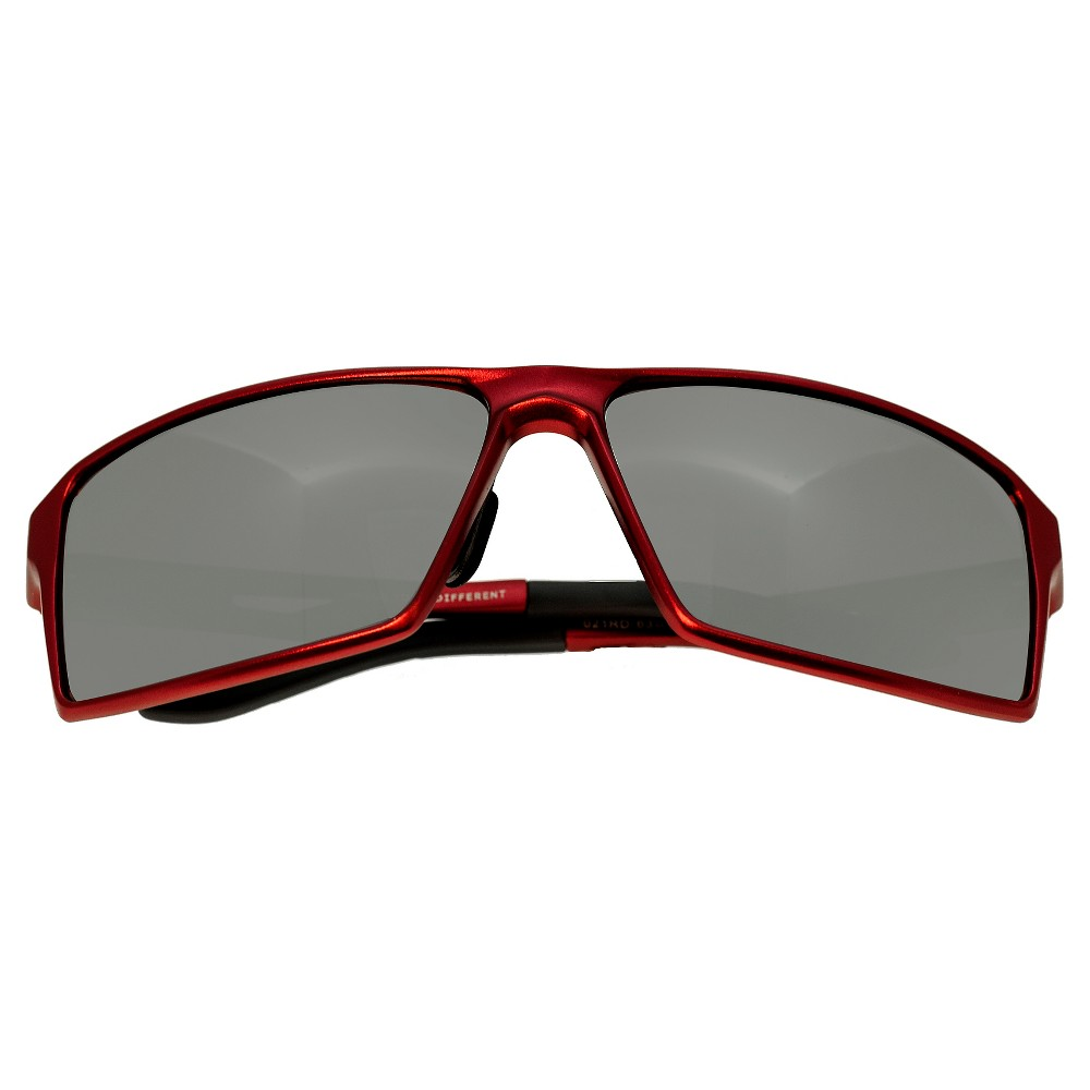 Breed Mens Centaurus Polorized Sunglasses with Aluminum Frame and Arms - Red/Silver