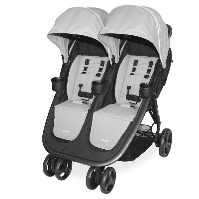 Combi Fold 'N Go Double Stroller - Titanium
