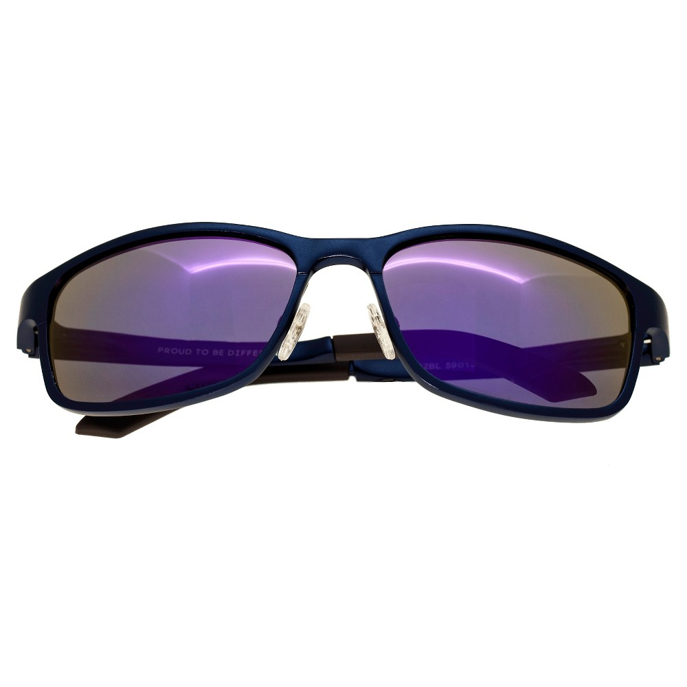Breed Mens Hydra Polorized Sunglasses with Aluminum Frame and Arms - Blue/Purple